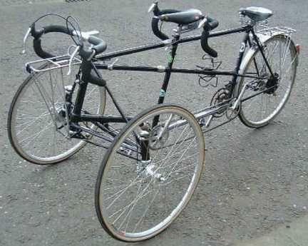 Mud Chaps Tandem Tricycle Tadpole Style Tandem Bike Tricycle Bicycle Gear