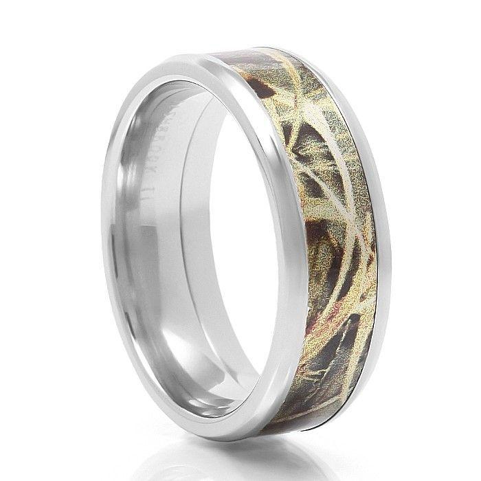 max 4 cobalt camo ring - White Camo Wedding Rings