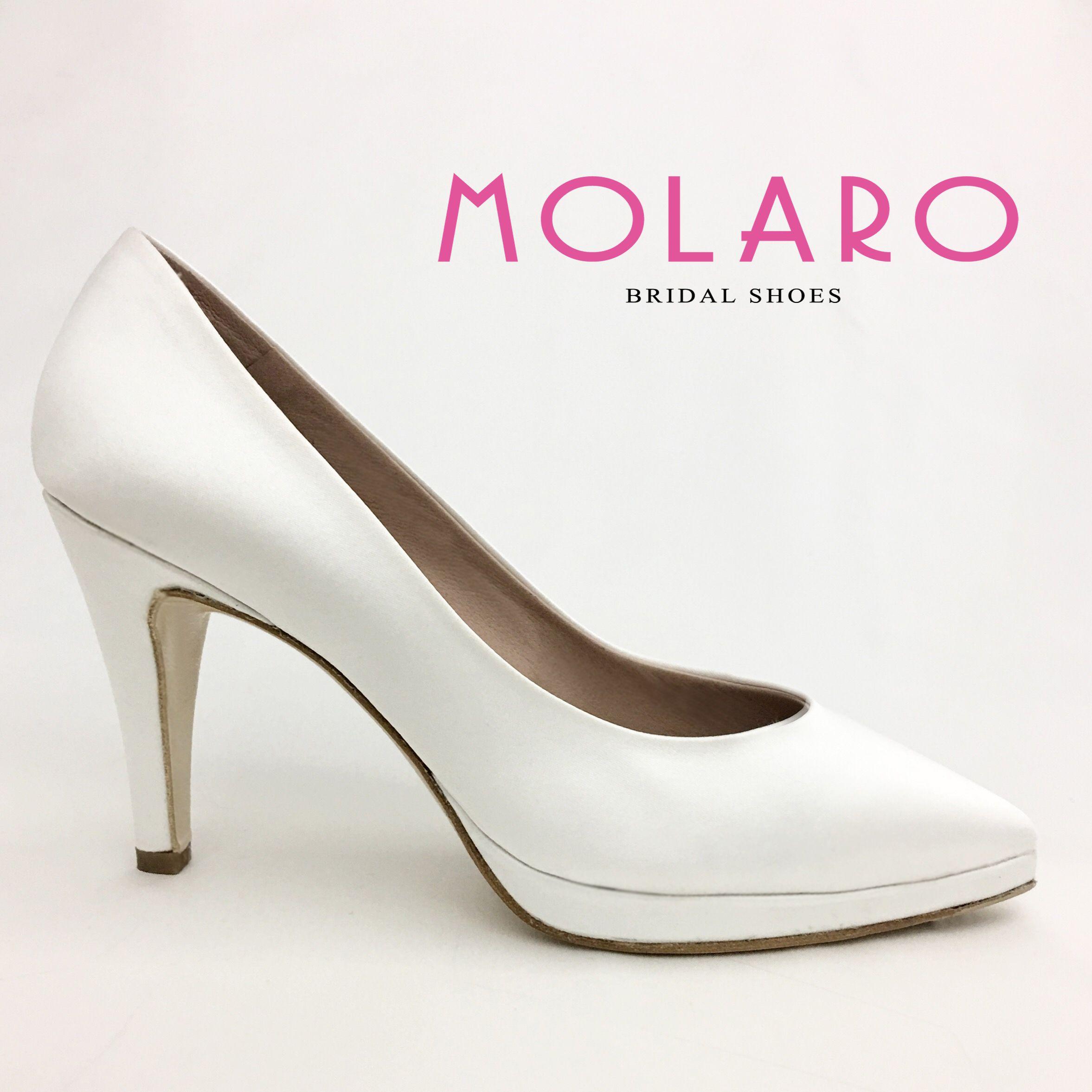 Scarpe Sposa Bianco Seta.Gianni Molaro Bridal Shoes Decollete In Raso Bianco Seta Art