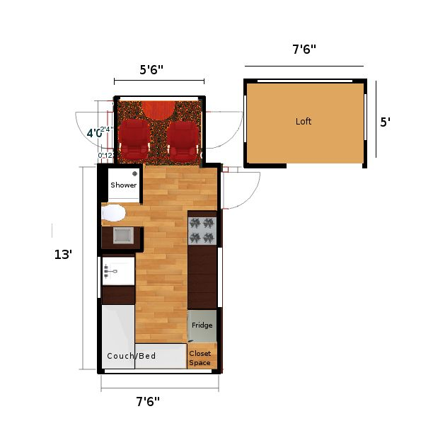 My Home Is About 135 Square Feet House Floor Plans Floor Plans My Home