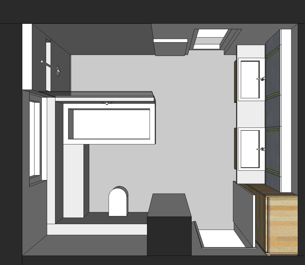 Visualisierung Familienbad Von Oben Familienbad Bad Grundriss Badezimmer Grundriss
