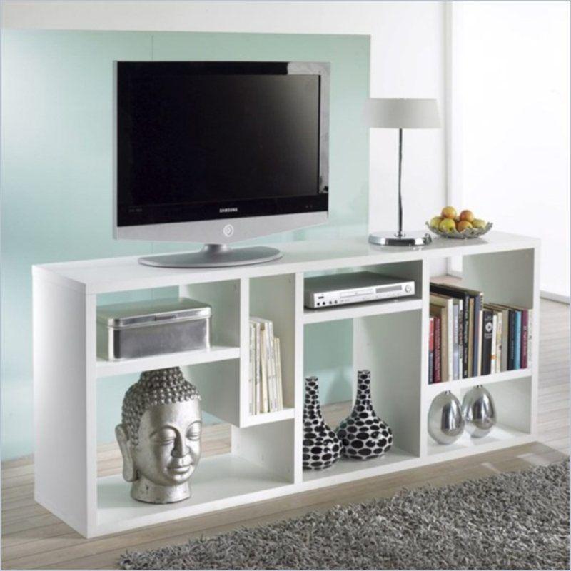 Bookcase TV Stand in White – Tv Stand Bookcase