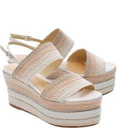 Flatform Braid Natural | Schutz | Sapatos de salto alto