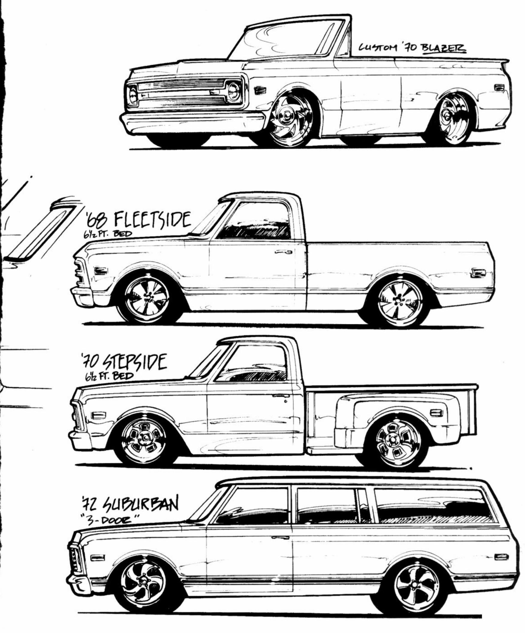 Cool Sketch 67 72 Chevy Trucks Chevy Trucks