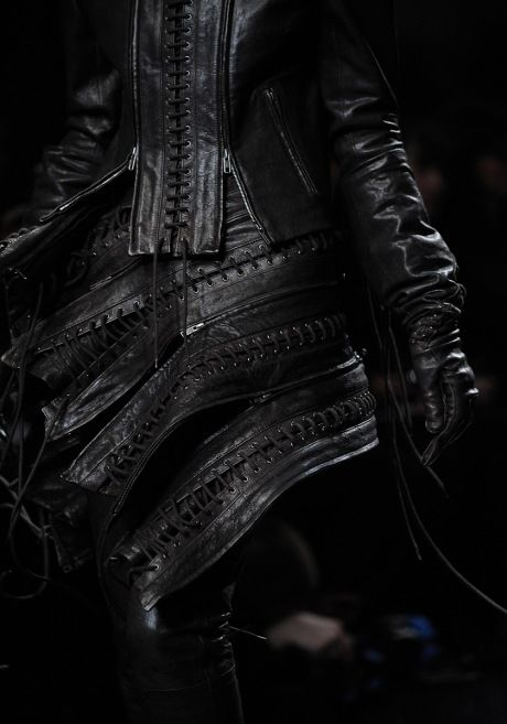 the queen of leather - ann demeulemeester