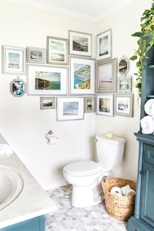budget master bathroom refresh reveal stairway gallery on bathroom wall decor id=22965
