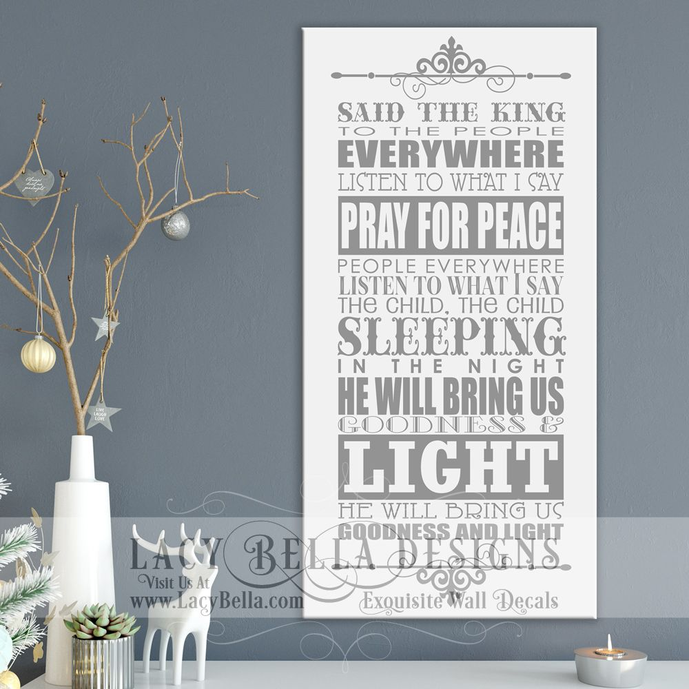 do you hear what i hear christmas carol song lyrics vinyl lettering holiday visit lacy bella designs wwwlacybellacom vinyl lettering and wall - Christmas Song Do You Hear What I Hear