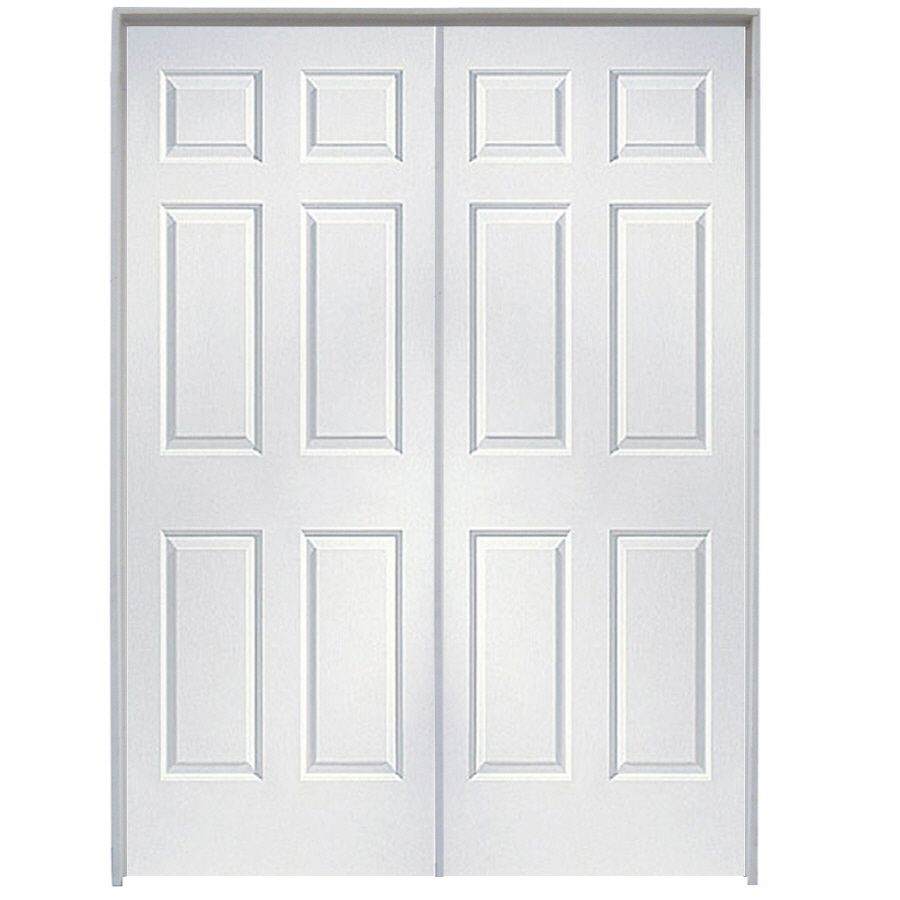 Shop reliabilt 48 in x 80 in 6 panel hollow core molded - Lowes prehung interior french doors ...