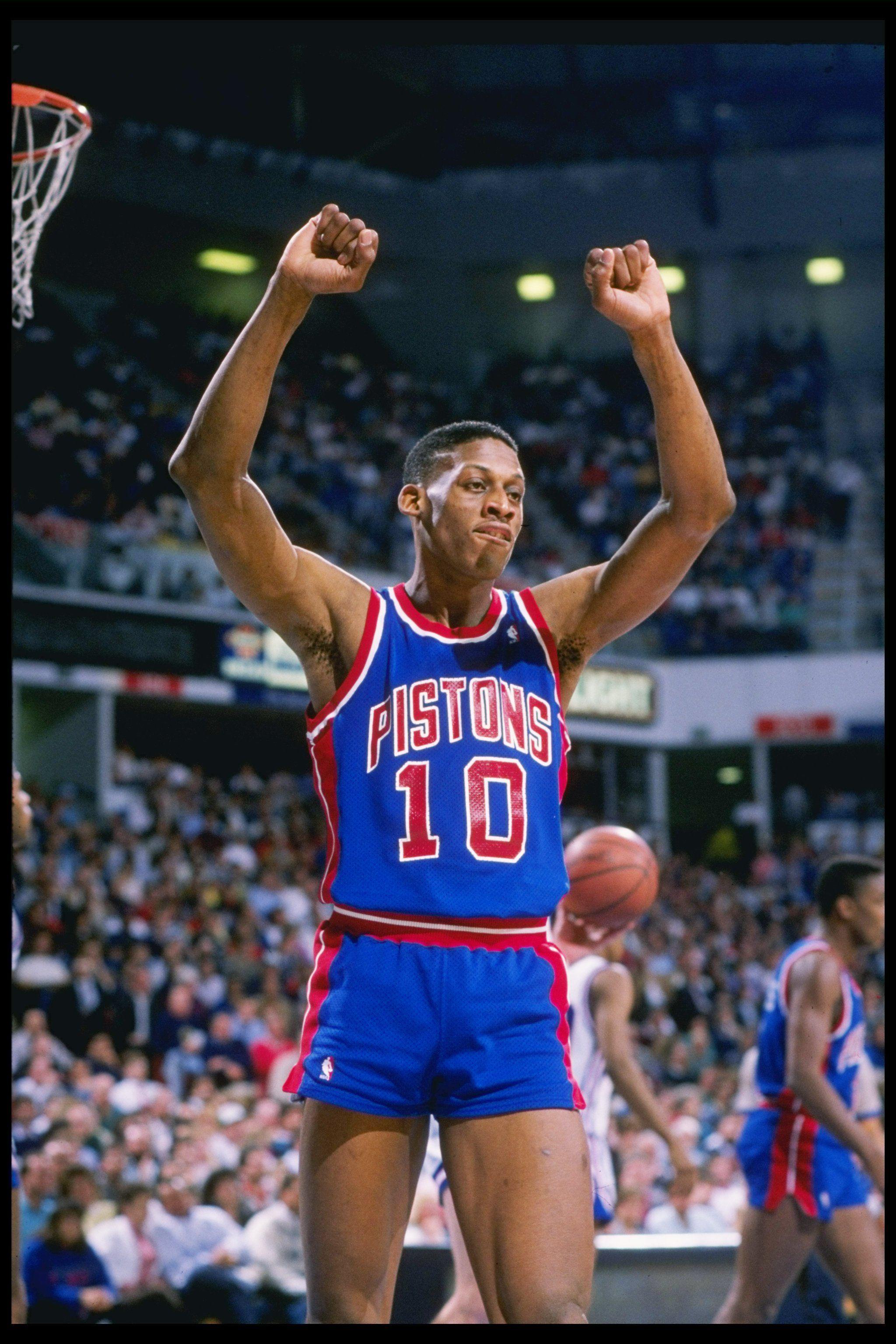 Dennis Rodman con los Pistons El mejor defensor de todos los