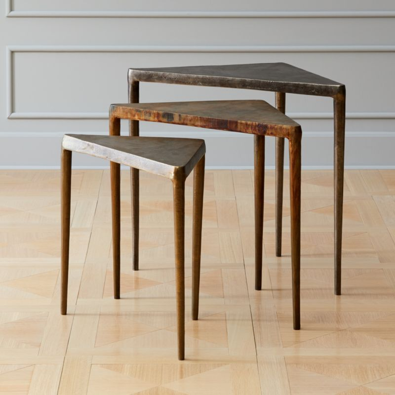 Shop 3 Piece Magma Metal Nesting Table Set A Trifecta Of