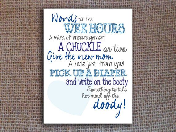 Diaper Notes Game | Baby Shower Printable | Blue | Instant Download Digital  File
