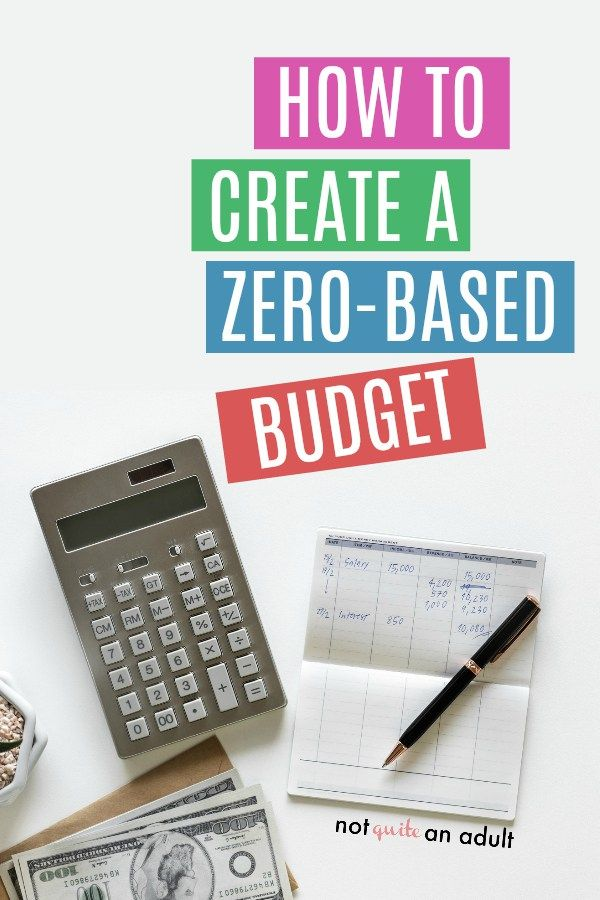 How to Use a Zero-Based Budget ~ Not Quite an Adult Pinterest - zero based budget spreadsheet template