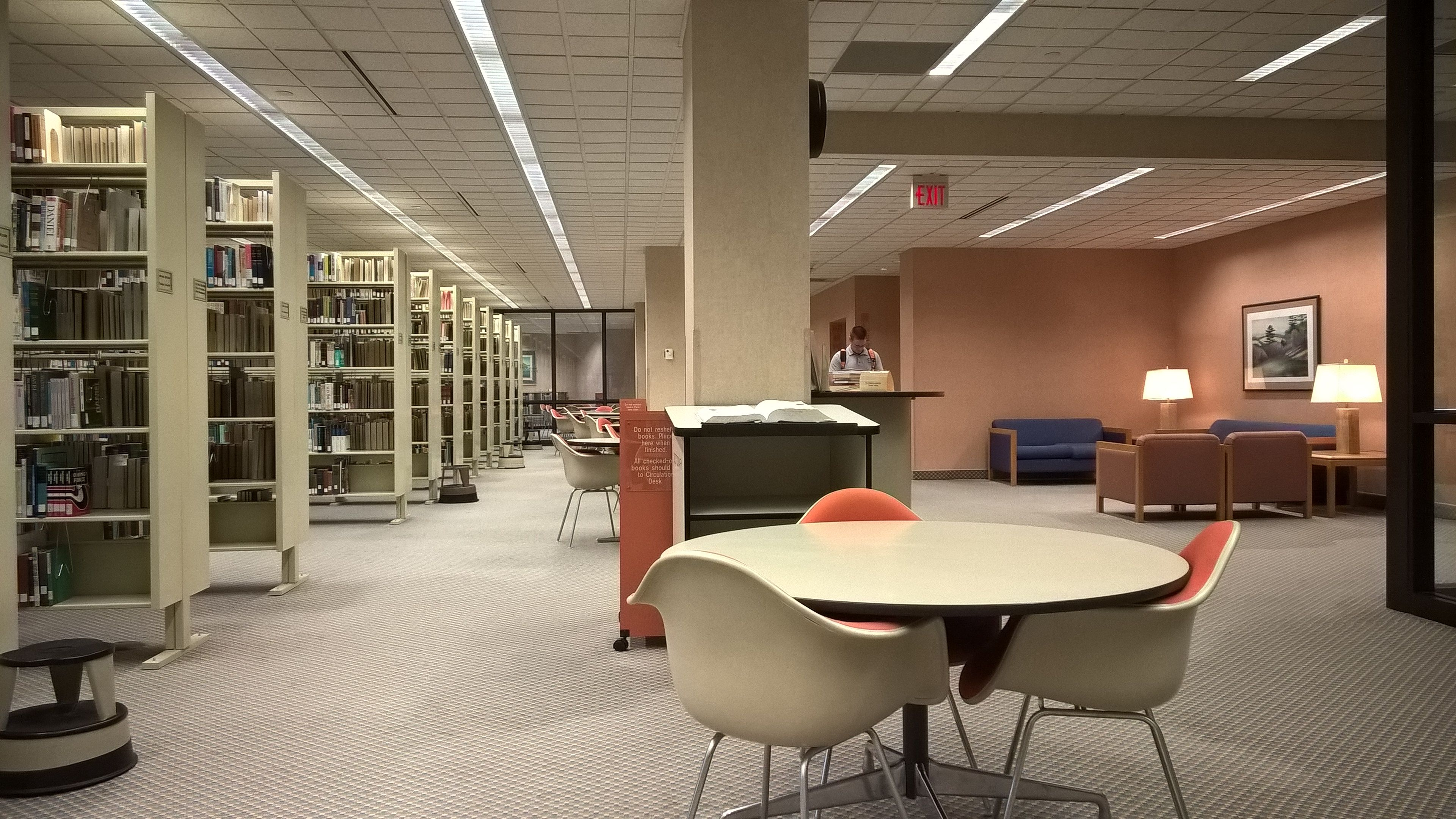Interior Of The Pensacola Christian College Library 3rd Floor