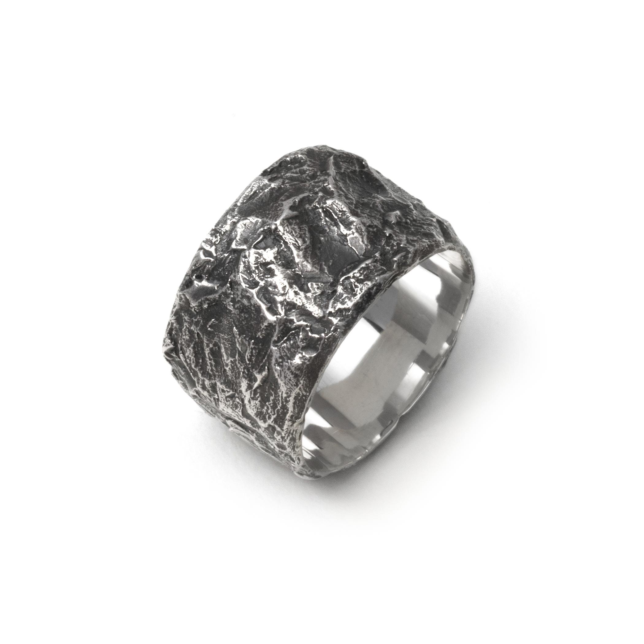 Anthracite Ring ALICIA HANNAH NAOMI Contemporary metal atelier
