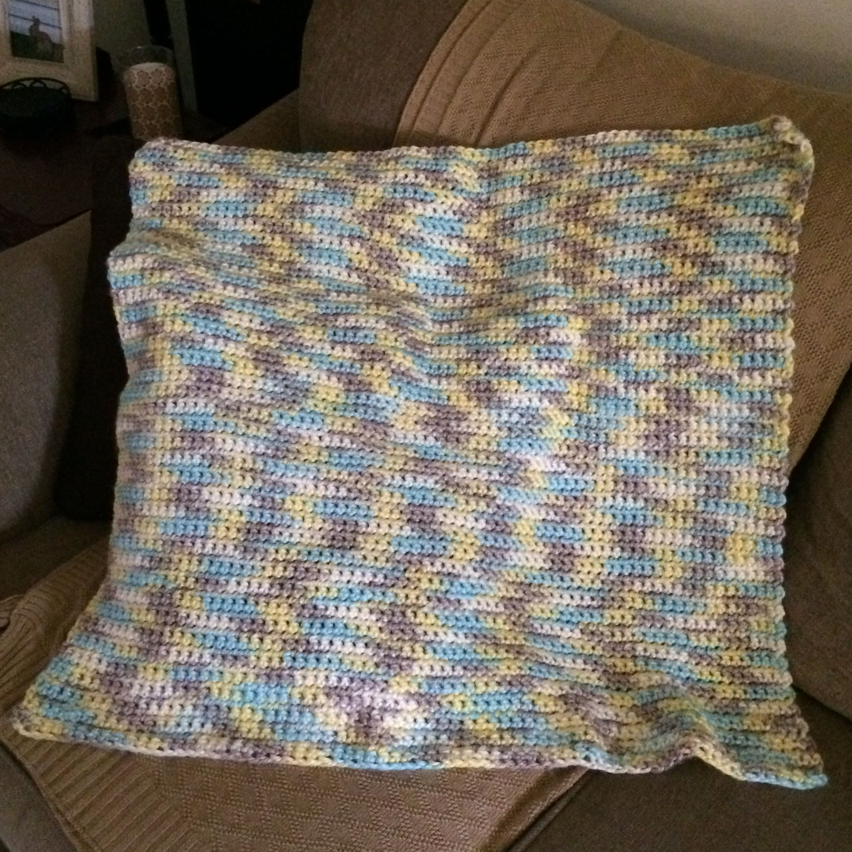 Single Crochet Baby Blanket Using Bernat Softee Baby Chunky Ombre