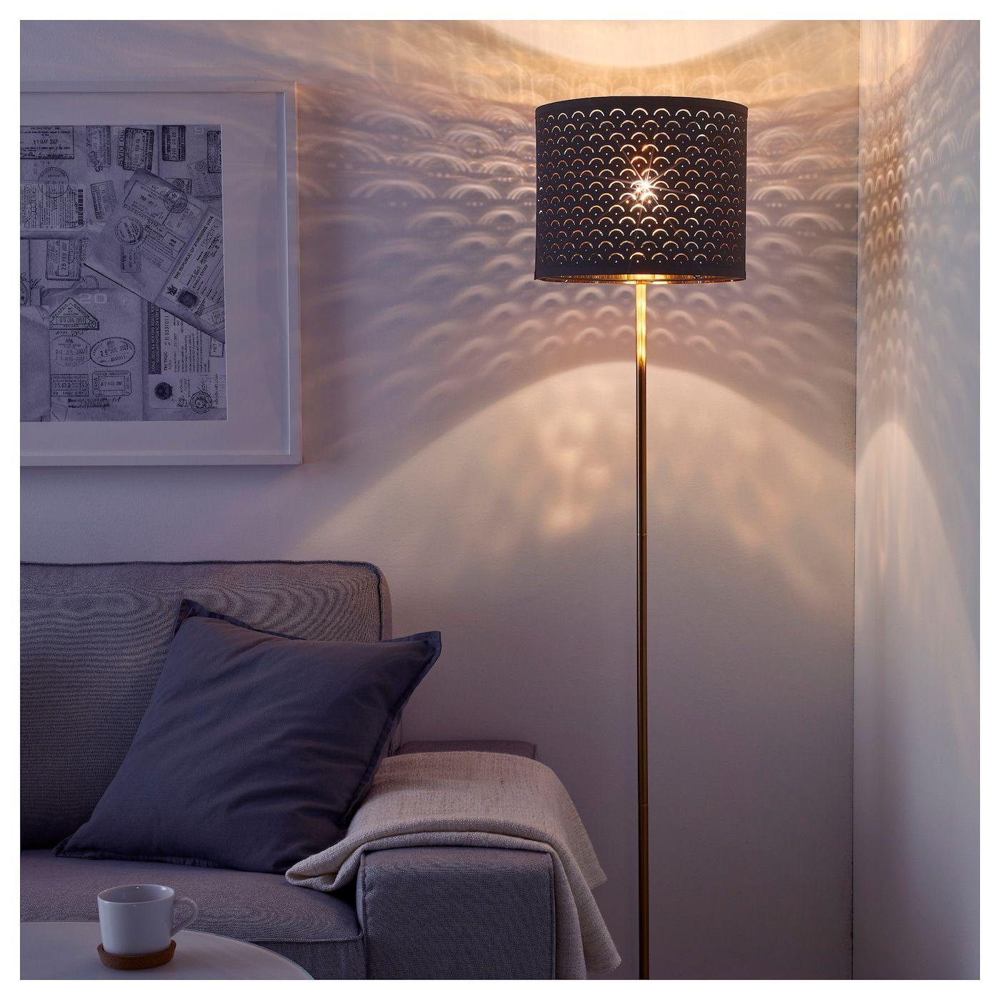 "NYMÖ Lamp shade, black, brass color, 13"" IKEA White"