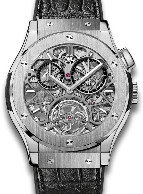 Hublot Classic Fusion Tourbillon Esqueleto Titanium reloj