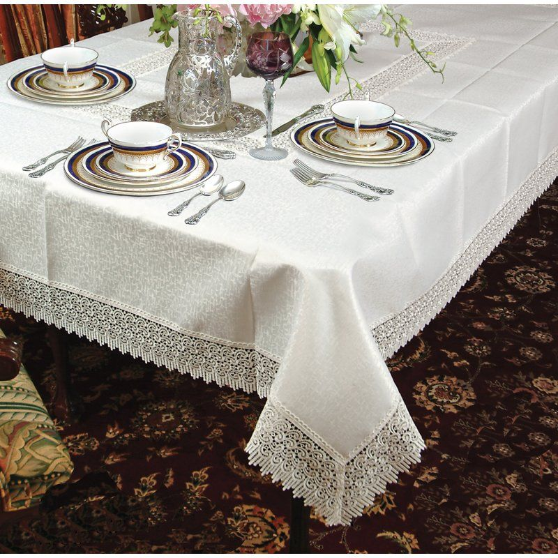 Alienor Lace Tablecloth Tablecloths In 2019 Tablecloth Sizes
