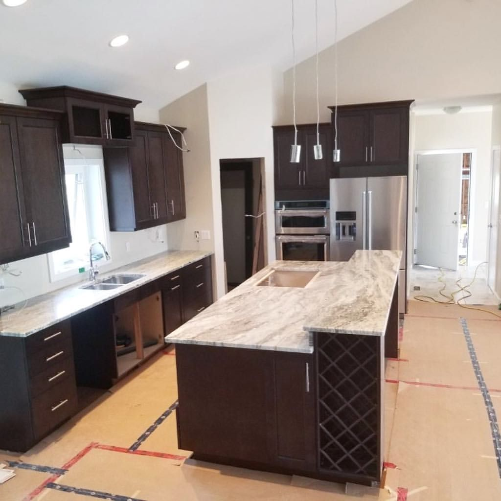 Brown Fantasy Granite Countertop Are Perfectly Paired With Dark