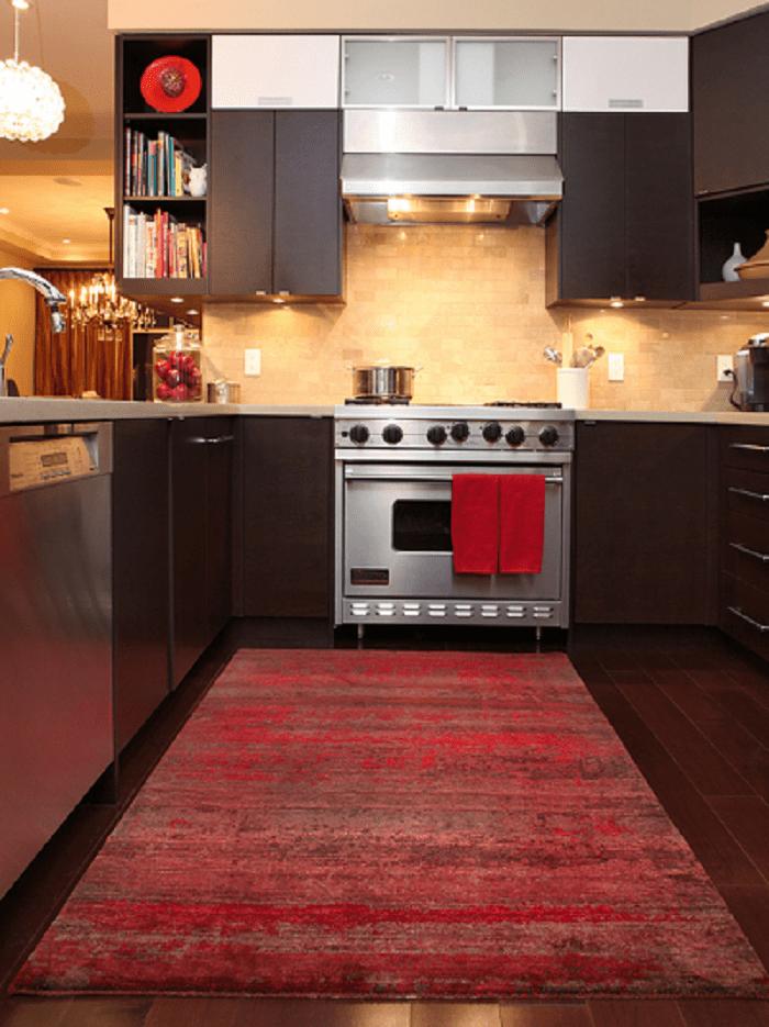 Bright Red Kitchen Rugs Design Ideas Homedecor