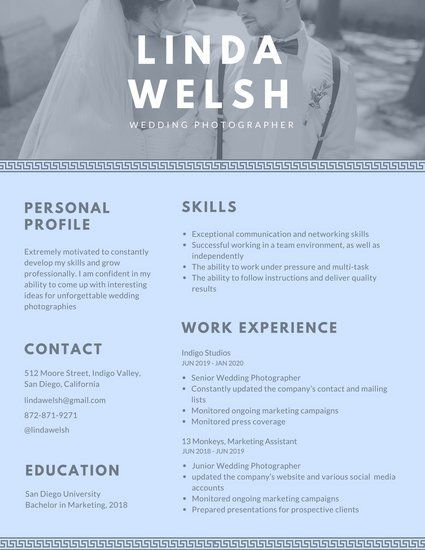 Marvelous Photography Resume Template Examples Regarding Rush 101