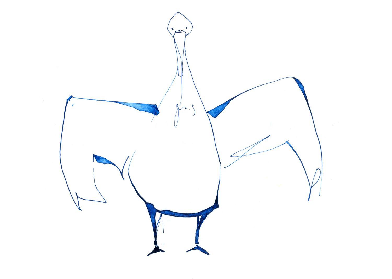 鳥 #イラスト #鳥 #アート #ドローイング #インク #ペン #シンプル