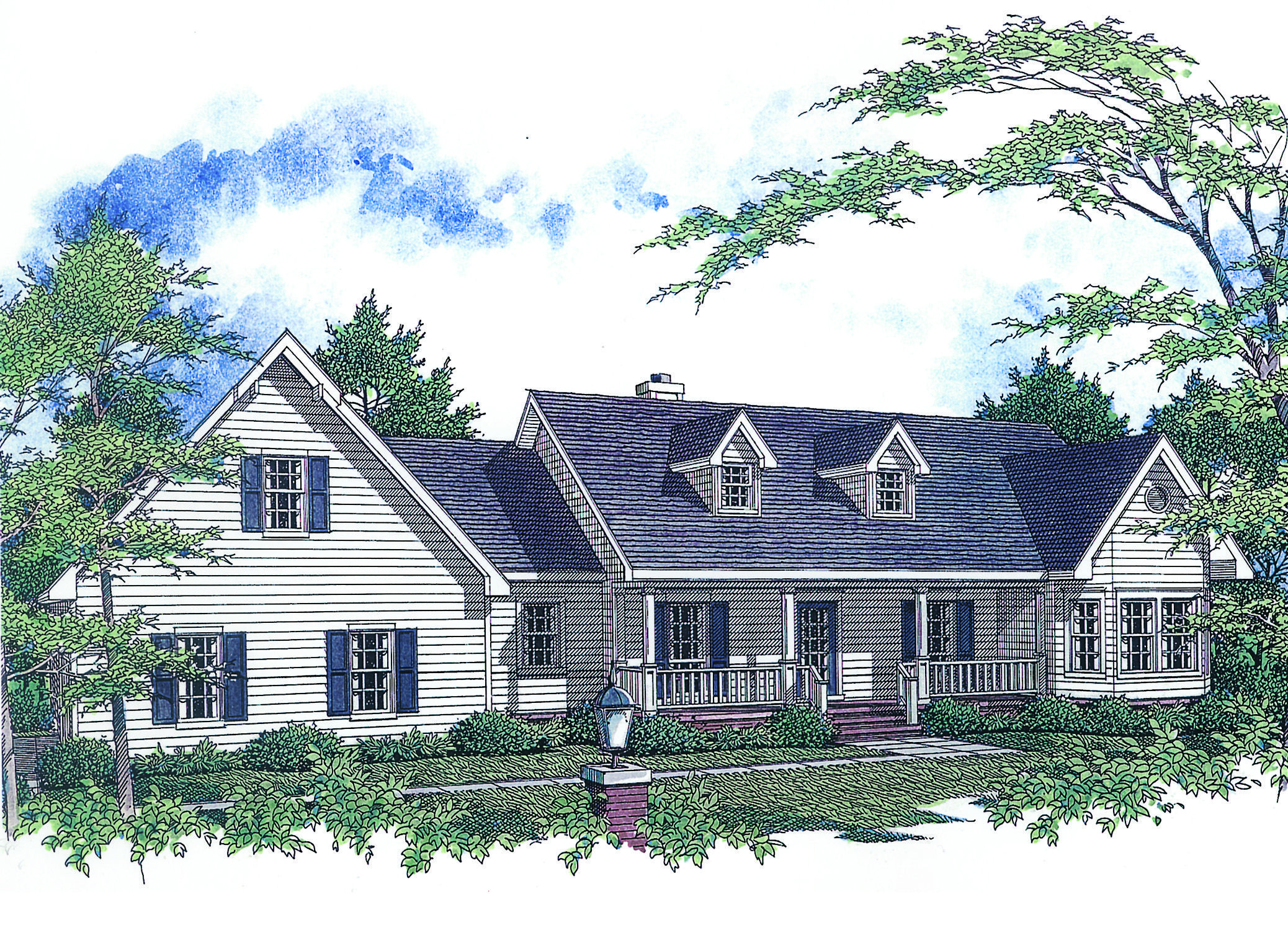 Plan 3416VL: Livable Family Home Plan | Country farmhouse, Bonus ...