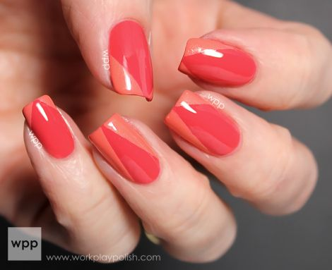 china glaze passion for petals and mimosa's before manis