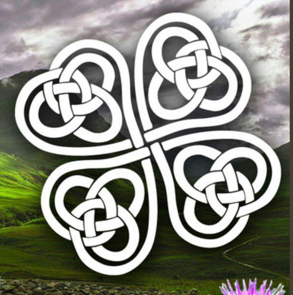 Único Trébol Nudo Celta Para Colorear Ornamento - Dibujos Para ...