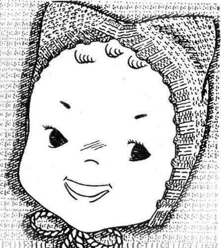 PDF Kitten Cap Hat Baby Bonnet Knitting Pattern 3 Month