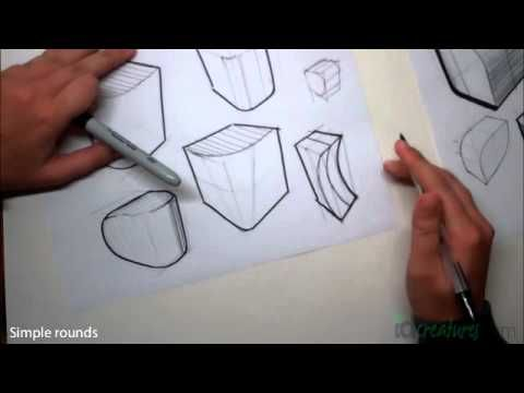 Sketching tutorial How to draw Simple Rounds | Rendering ...