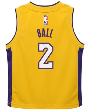 sports shoes 4844f 2aa8c Nike Lonzo Ball Los Angeles Lakers Icon Replica Jersey ...