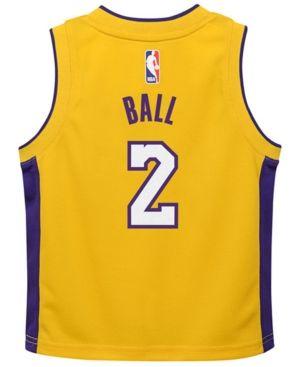 Nike Lonzo Ball Los Angeles Lakers Icon Replica Jersey 55ae0ae7d