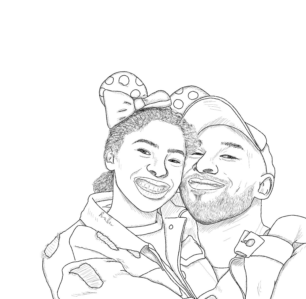 Reagan S Art On Instagram Rest In Peace Kobe And Gigi So Heartbreaking Basketball Drawings Coloring Pages Kobe
