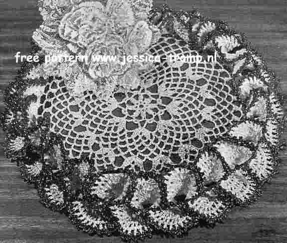 Nosegay Doily Free Vintage Crochet Doilies Patterns Diy Crafts