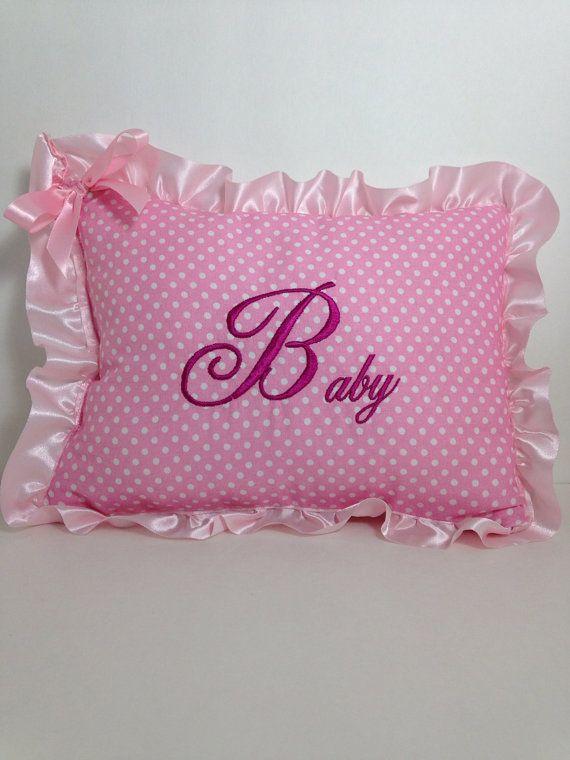 Personalized Baptism Blanket Pillow Set Baby Boy Girl Baptism Gift Satin Trim