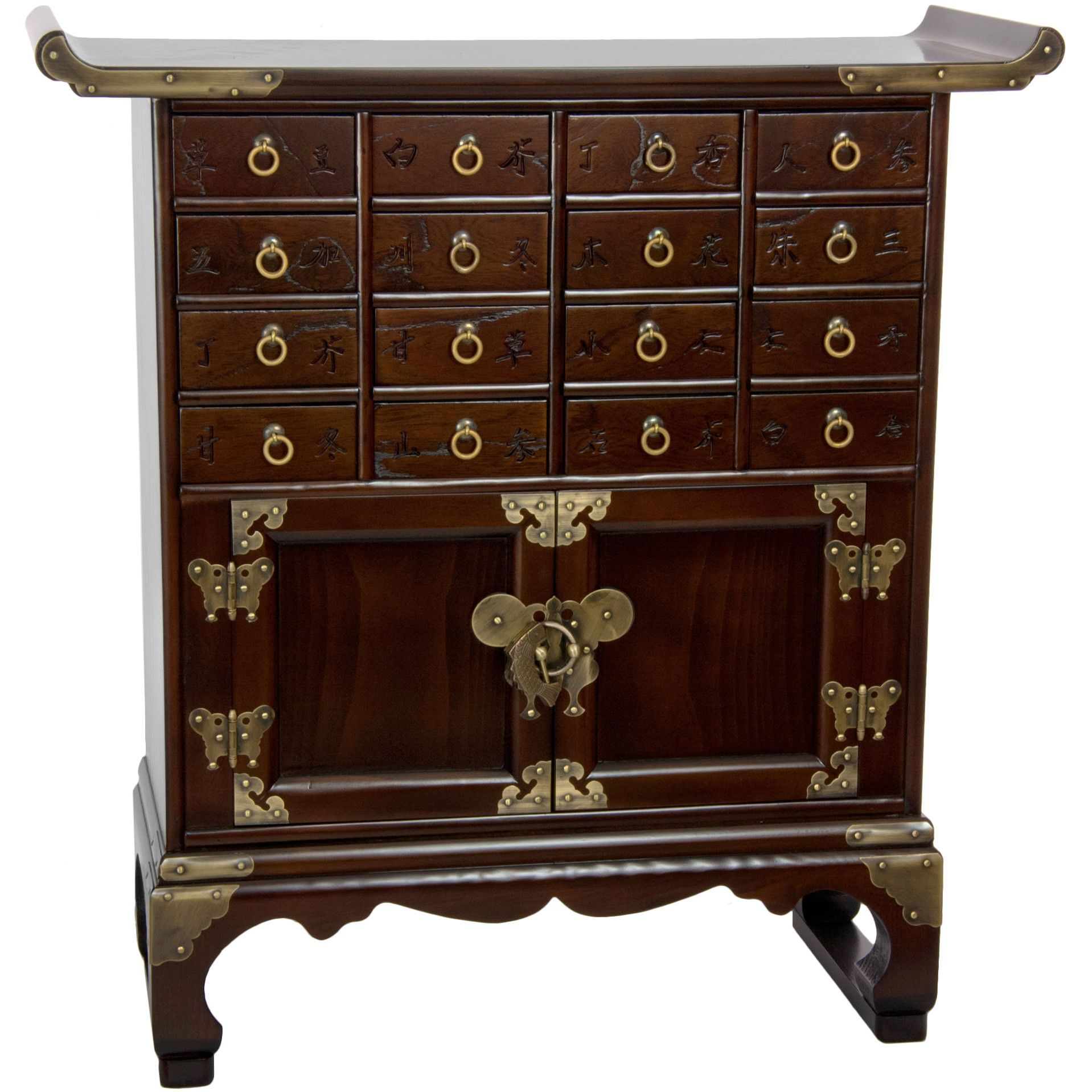 Oriental Furniture Korean 16 Drawer Medicine Chest   Impeccable  Craftsmanship And Attention To Detail Make This Oriental Furniture Korean  16 Drawer Medicine ...