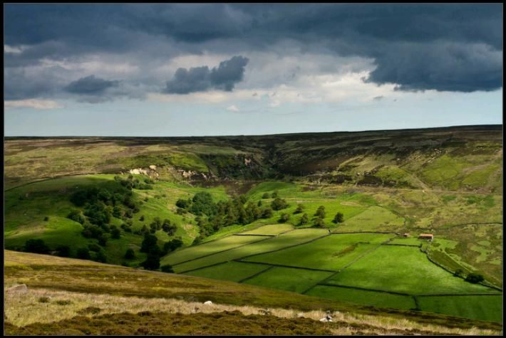 ...unfathomable. Rosedale, North Yorkshire moors, England ...
