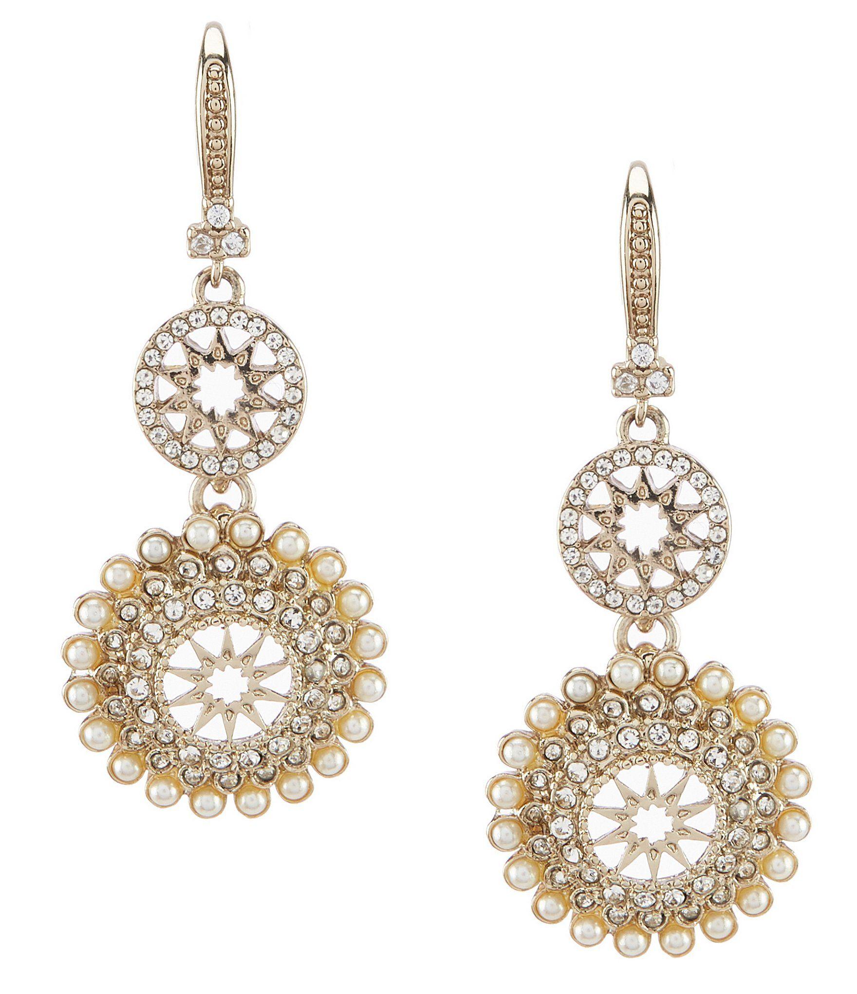 Marchesa Charm Floral Double Drop Earrings | Dillard's