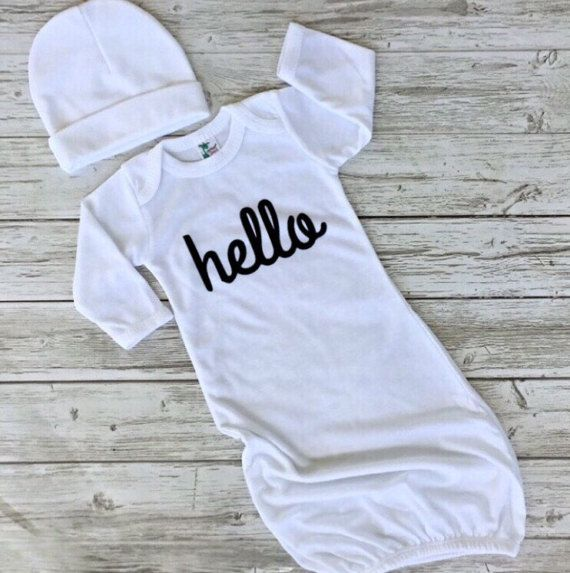 Check out this item in my Etsy shop https://www.etsy.com/ca/listing/515428427/free-hat-baby-gown-newborn-hat-and-baby
