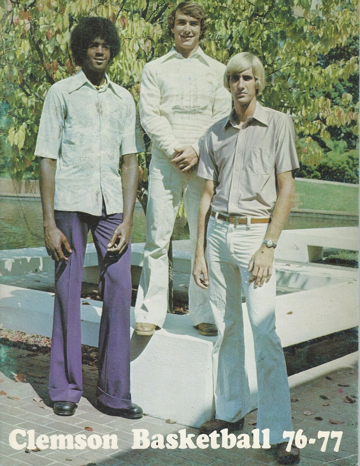 """1976 77 Clemson BB Media Guide Front Cover Picture of """"Tree"""