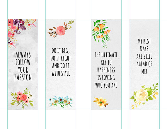 photograph regarding Printable Bookmark named Motivational Bookmarks Template, Quotation Bookmarks, Printable