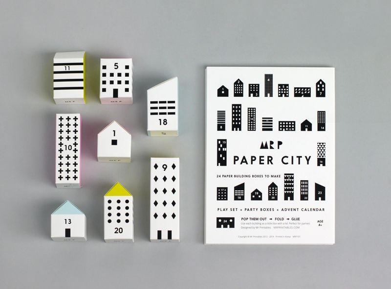 Paper City Advent Calendar Advent Calendars Origami And Craft