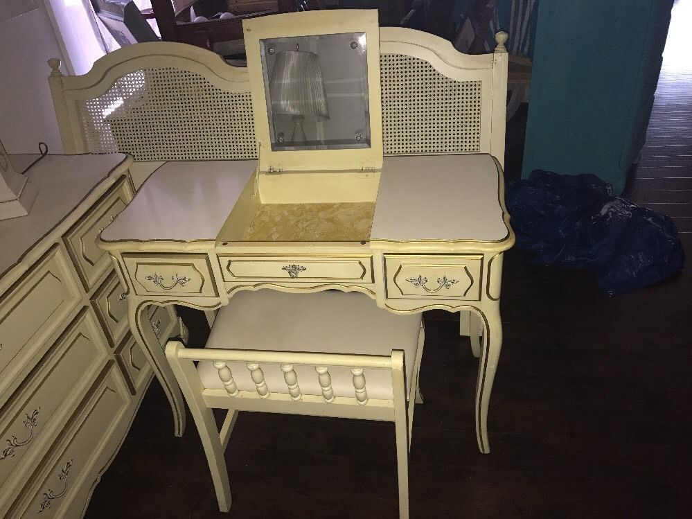 Henry Link French Provincial Vanity with Stool or Bench