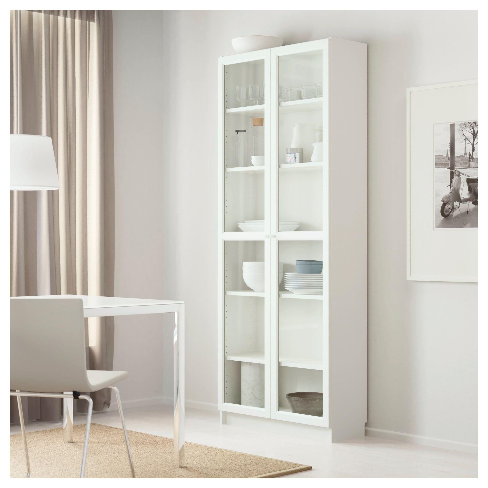 Billyoxberg Bookcase White 80X202X30 Cm  Ikea