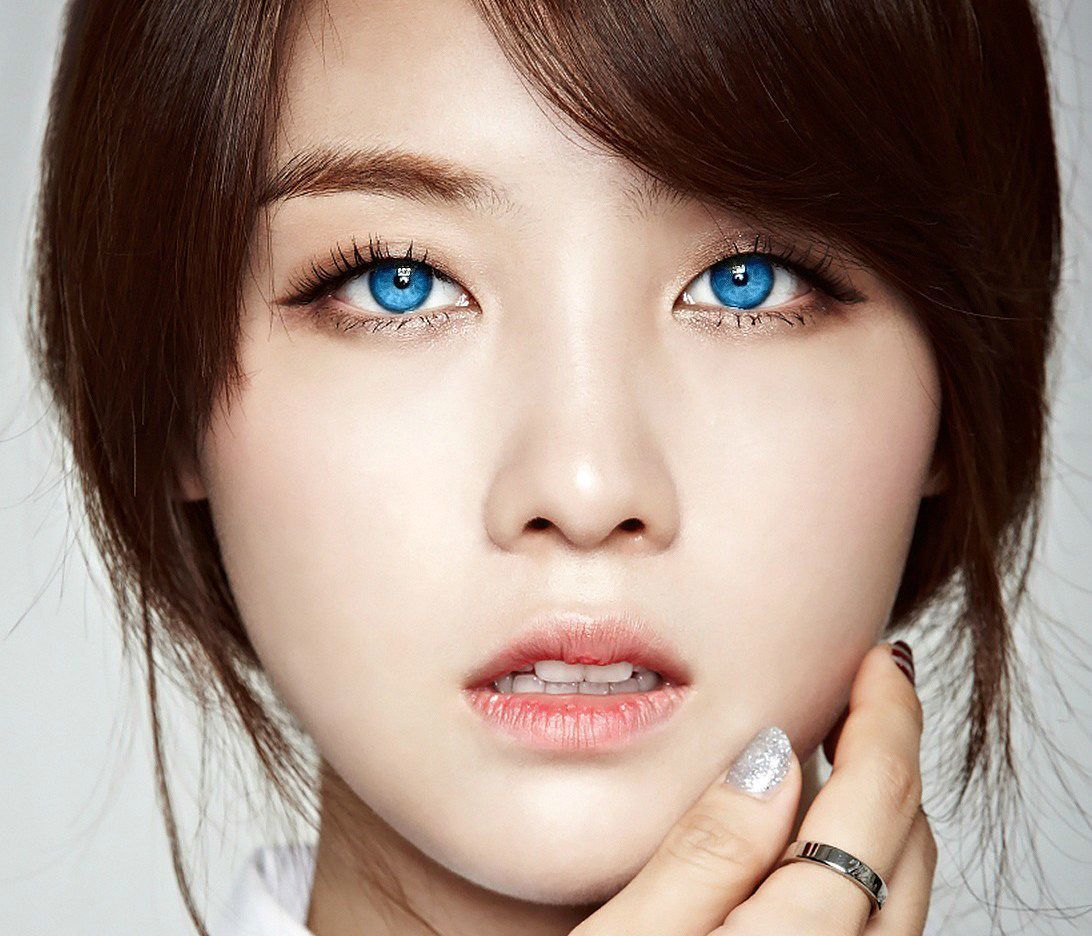 Asian girl blue eyes