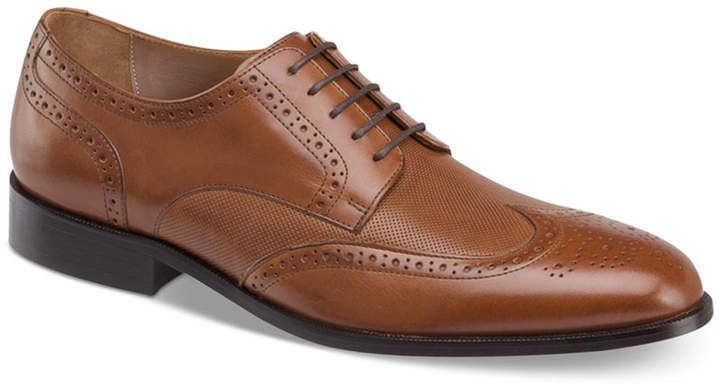 Johnston & Murphy Men's Hernden Perforated Wingtip Lace-Up Oxfords Men's Shoes 4fak8jZu2b