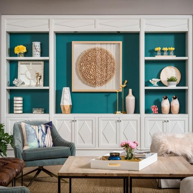 living space pictures  hgtv photos  built in shelves