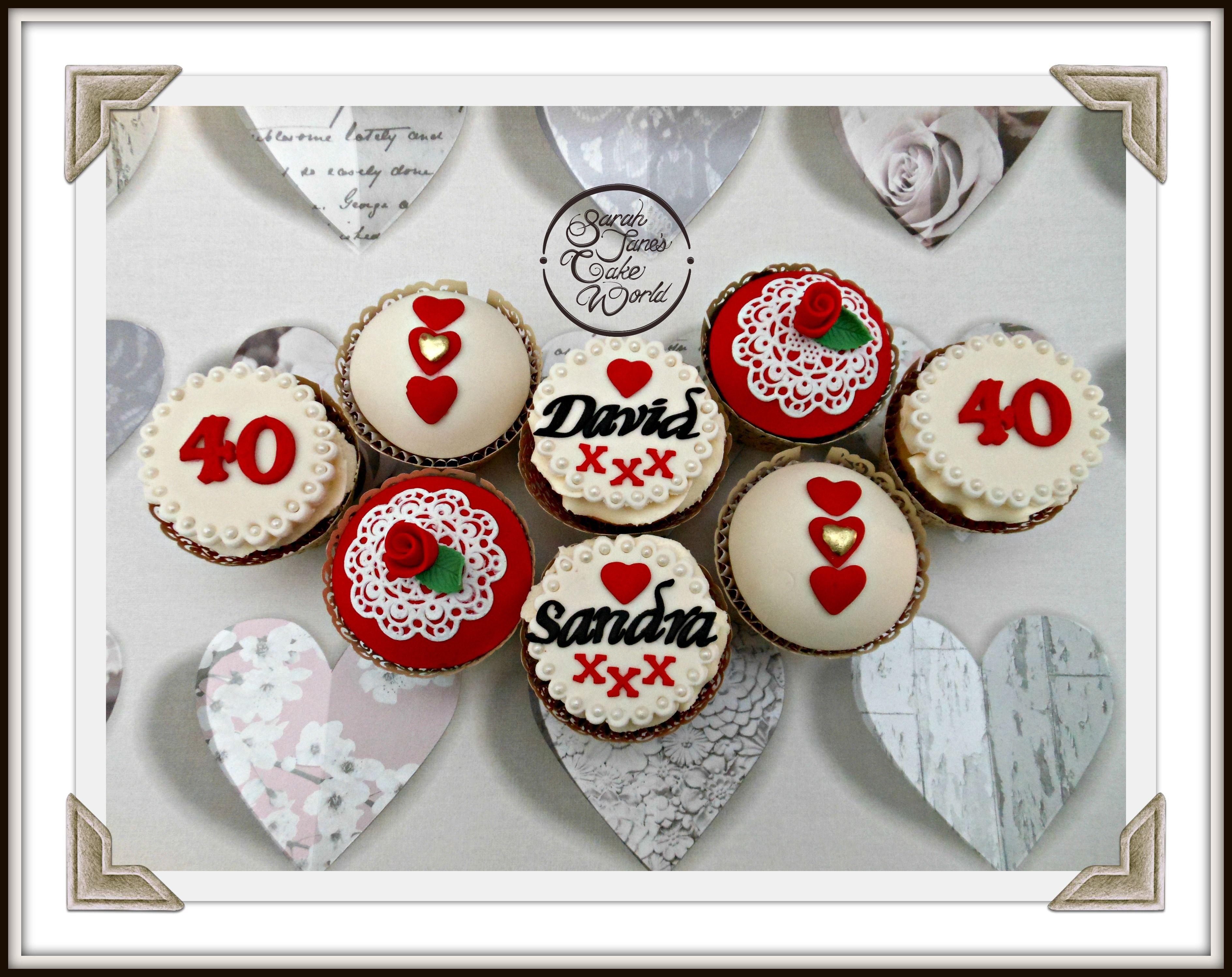 Ruby Wedding Cupcakes Wedding Cupcakes Ruby Wedding Sugar Cookie