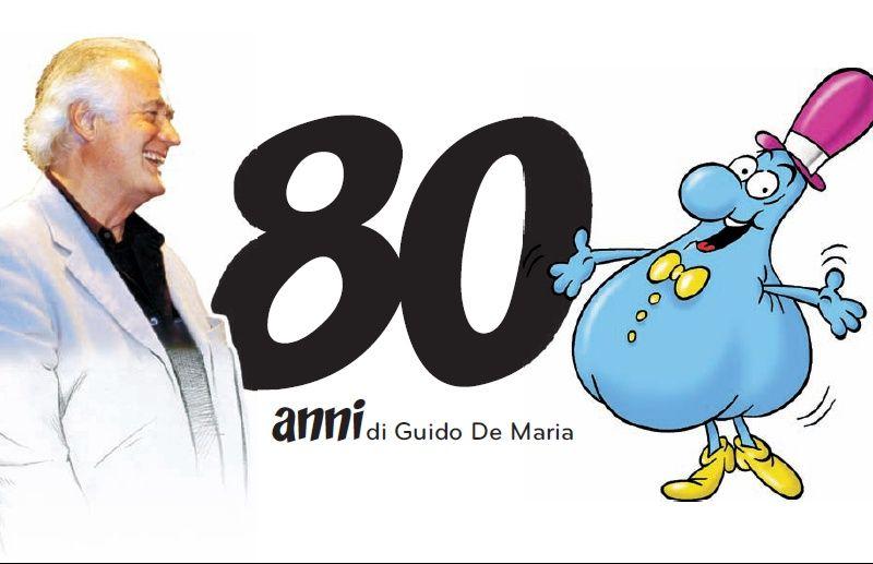 20-12-12: il biglietto d'invito al WOW di Milano per il festeggiamento degli 80 anni di De Maria...